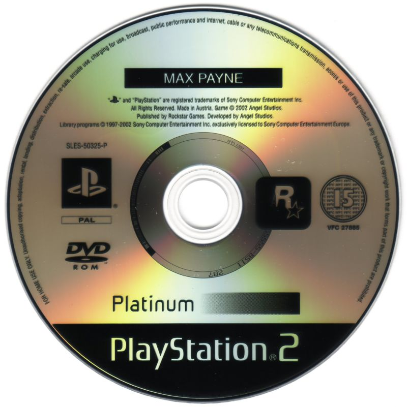 Max Payne PlayStation 2 Media