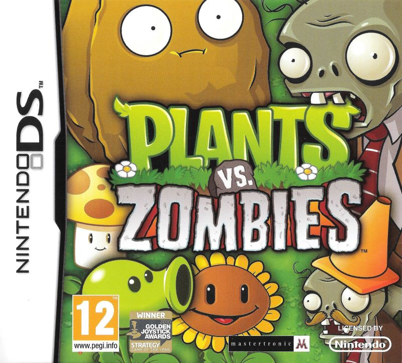 Plants vs. Zombies Nintendo DS Front Cover