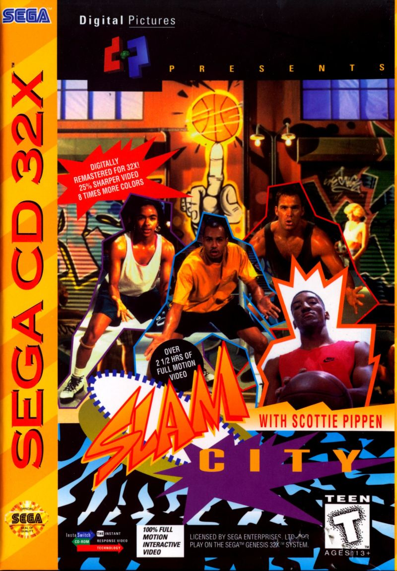 Slam City with Scottie Pippen SEGA 32X Front Cover