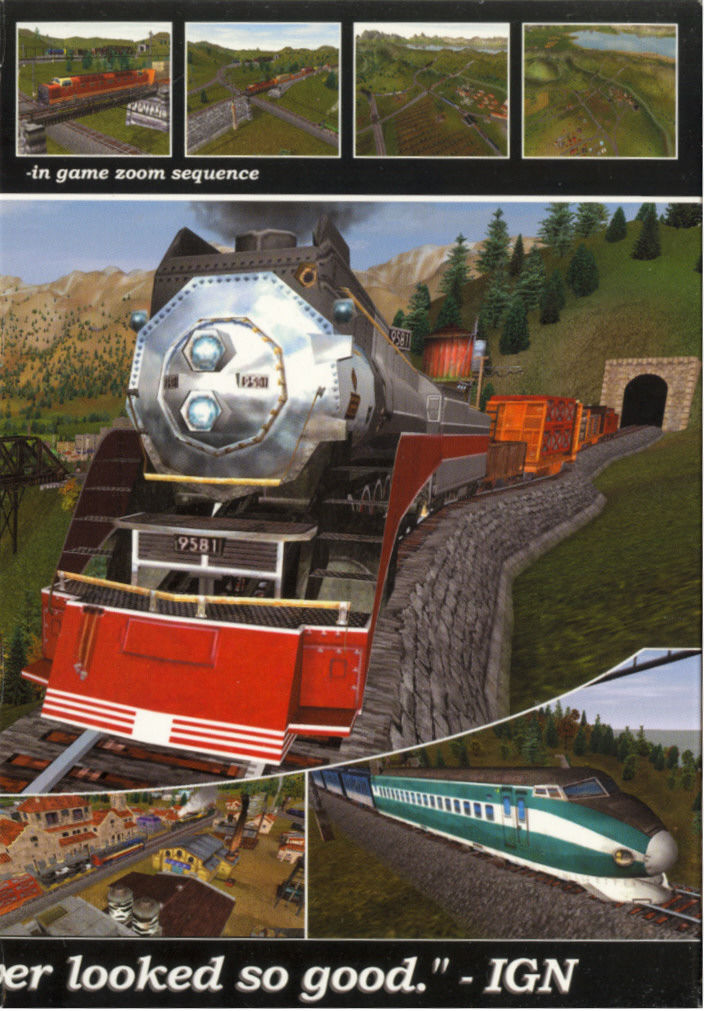 Railroad Tycoon 3 Windows Inside Cover Right Flap