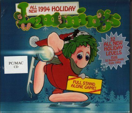 Holiday Lemmings DOS Front Cover
