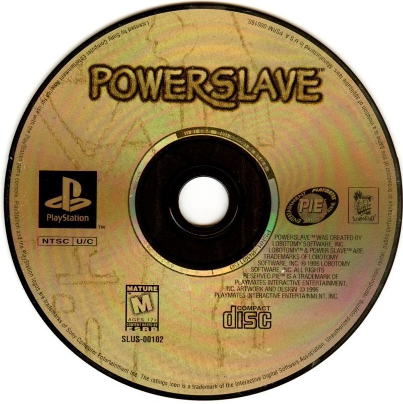 Powerslave PlayStation Media