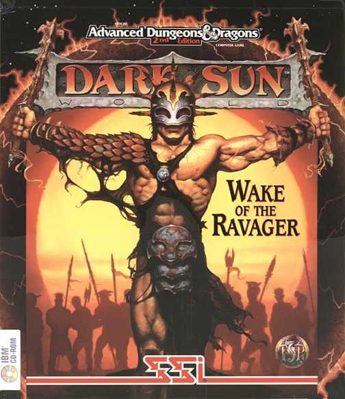 Dark Sun: Wake of the Ravager DOS Front Cover