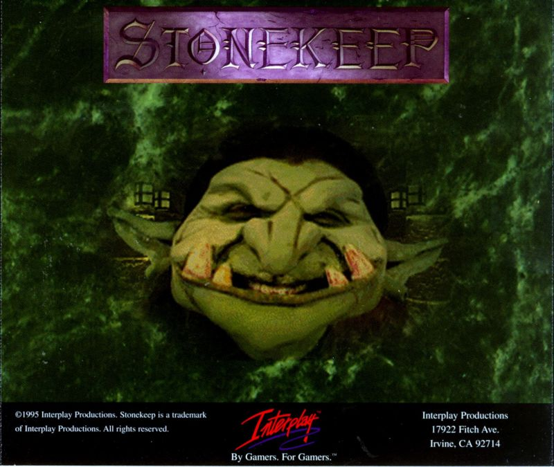 Stonekeep DOS Other Jewel Case - Back