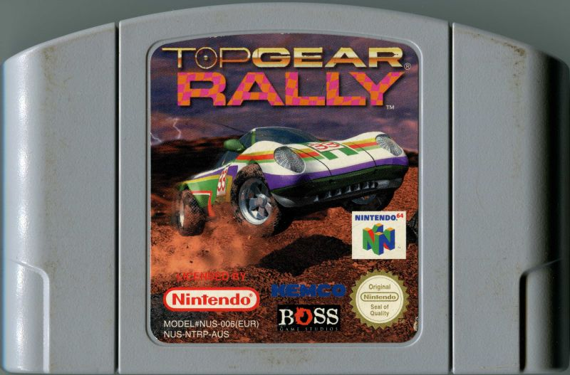 Top Gear Rally (1997) Nintendo 64 box cover art - MobyGames