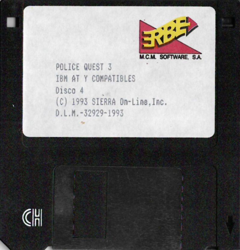 Police Quest 3: The Kindred DOS Media Disk 4