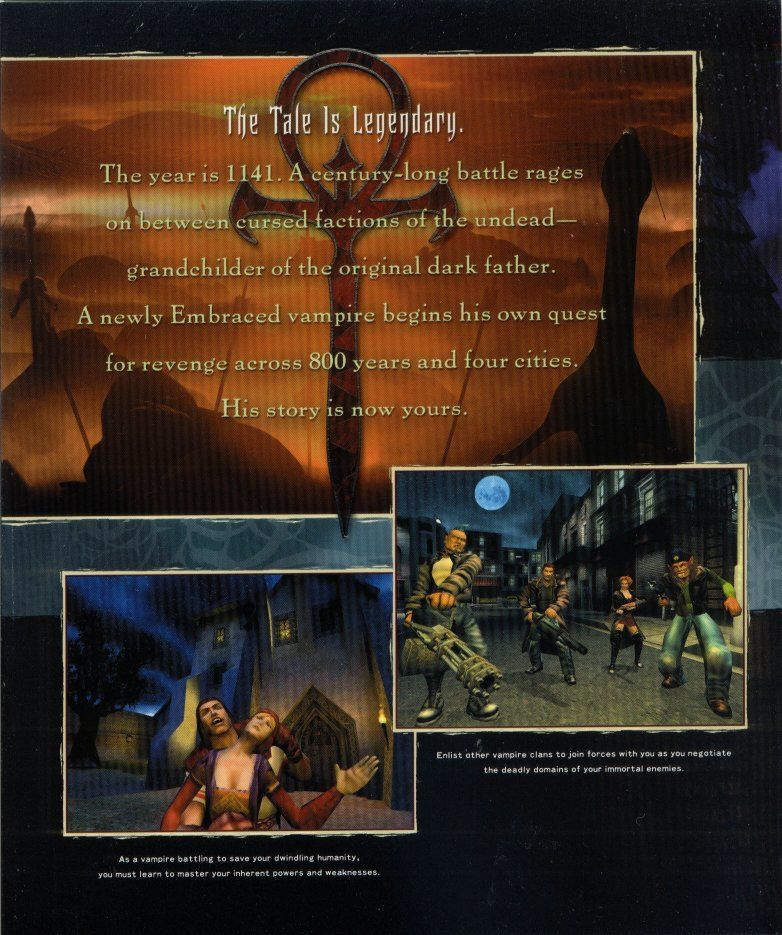 Vampire: The Masquerade - Redemption Windows Inside Cover Left Flap