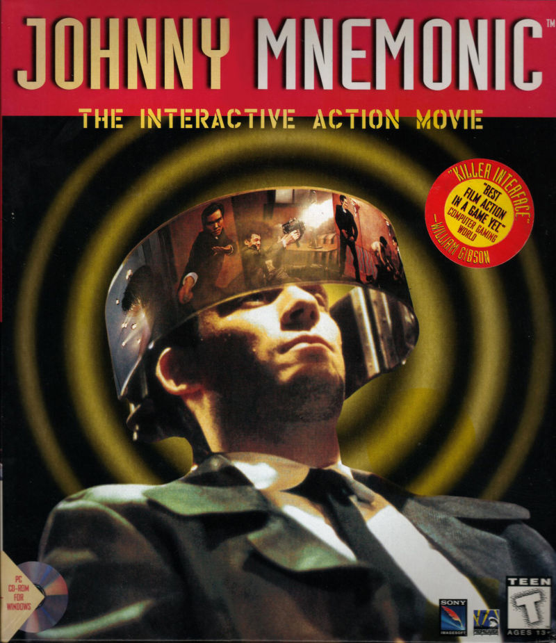 Johnny Mnemonic Windows 3.x Front Cover