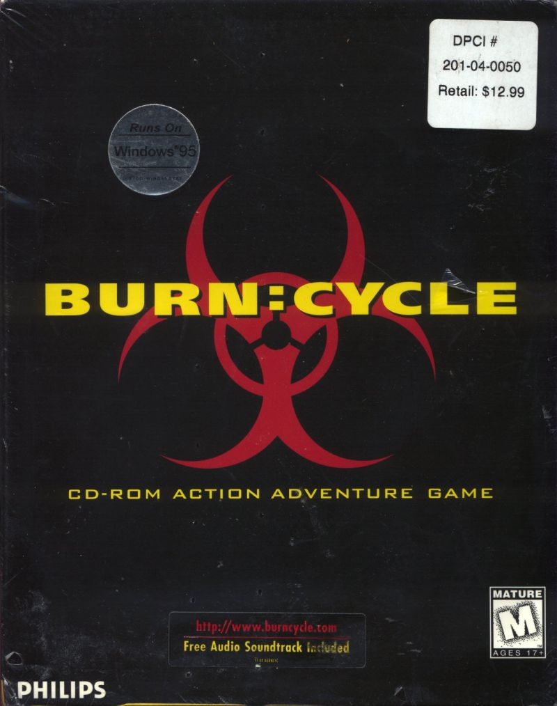 Burn:Cycle Windows 3.x Front Cover
