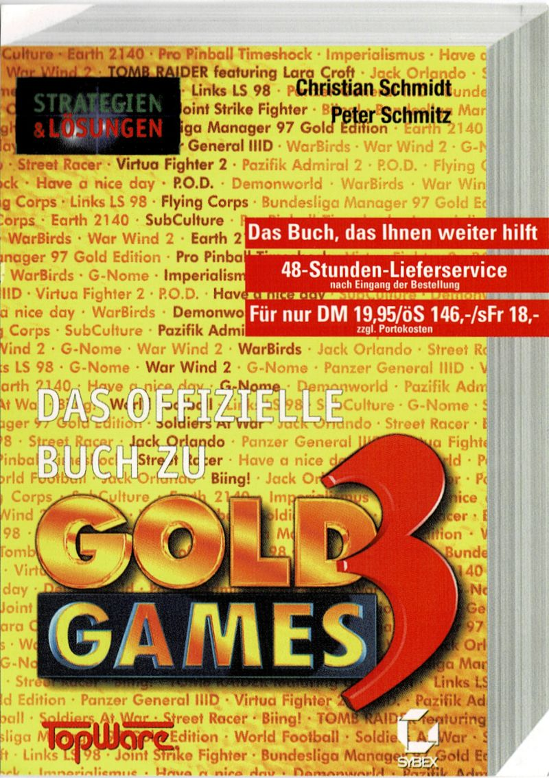 Gold Games 3 DOS Extras Reg. Card - Side A