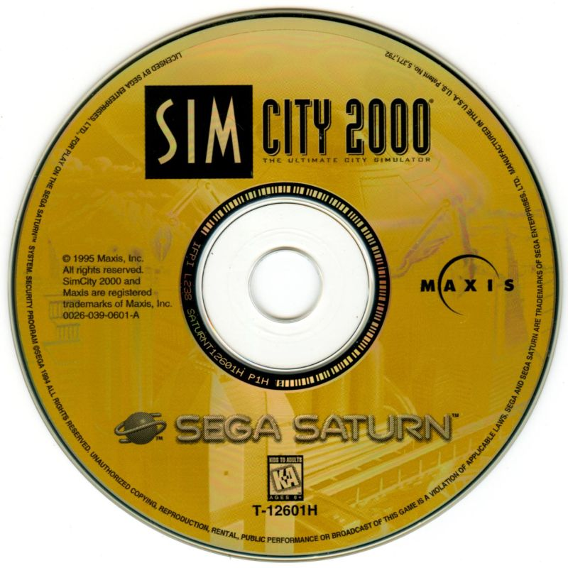 SimCity 2000 SEGA Saturn Media