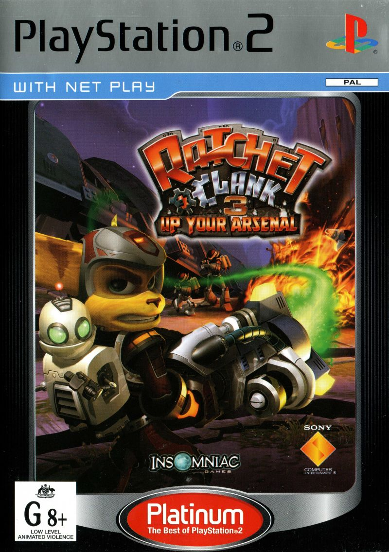 Ratchet Clank Up Your Arsenal 2004 Box Cover Art Mobygames