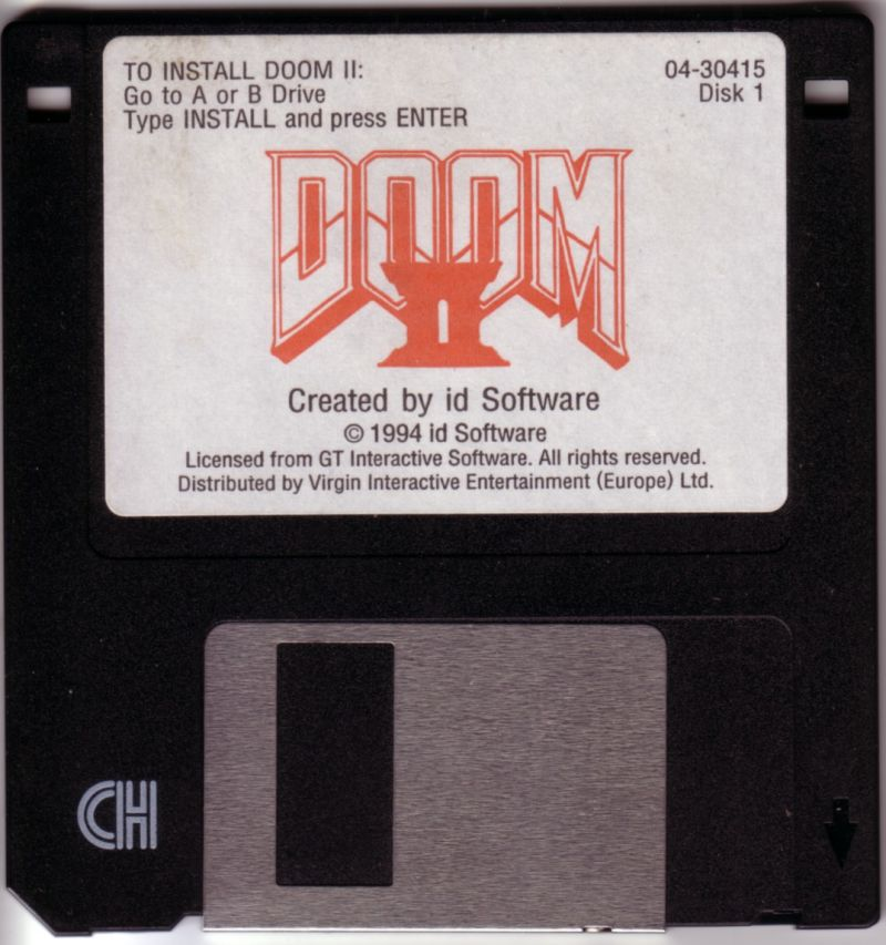 DOOM II DOS Media Disk 1/5