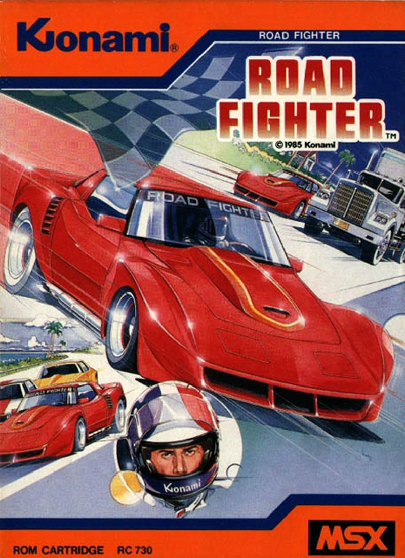 Road Fighter MSX Front Cover