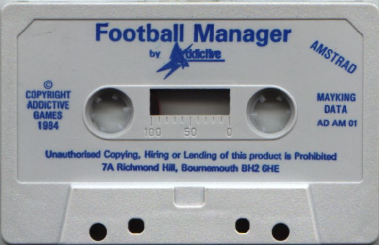 Football Manager Amstrad CPC Media