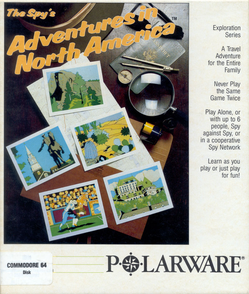 The Spy's Adventures in North America Commodore 64 Front Cover