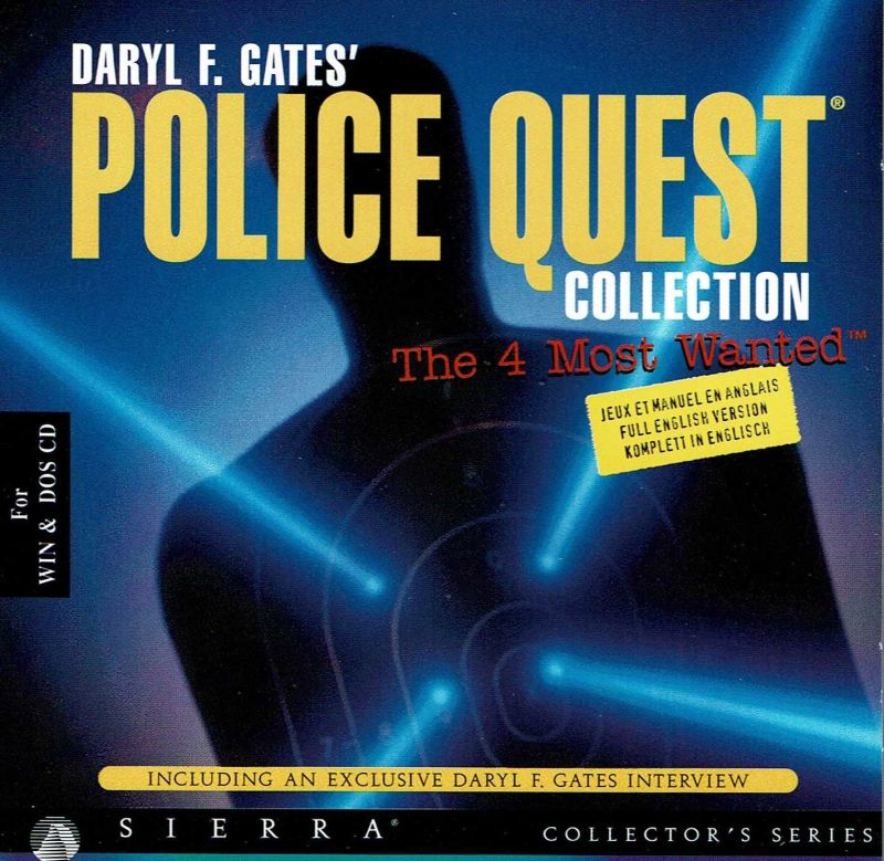 Daryl F. Gates' Police Quest Collection: The 4 Most Wanted DOS Other Jewel Case - Front