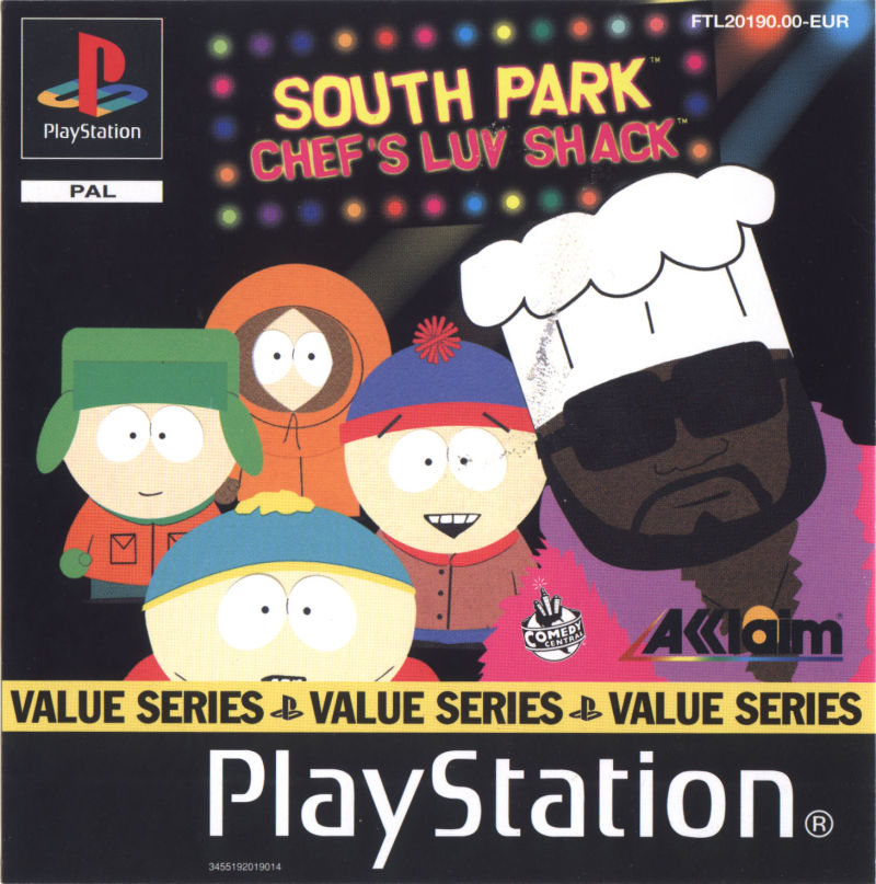 South Park: Chef's Luv Shack PlayStation Front Cover