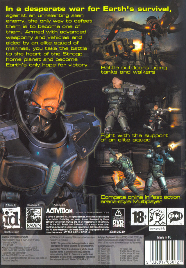 Quake 4 Windows Back Cover
