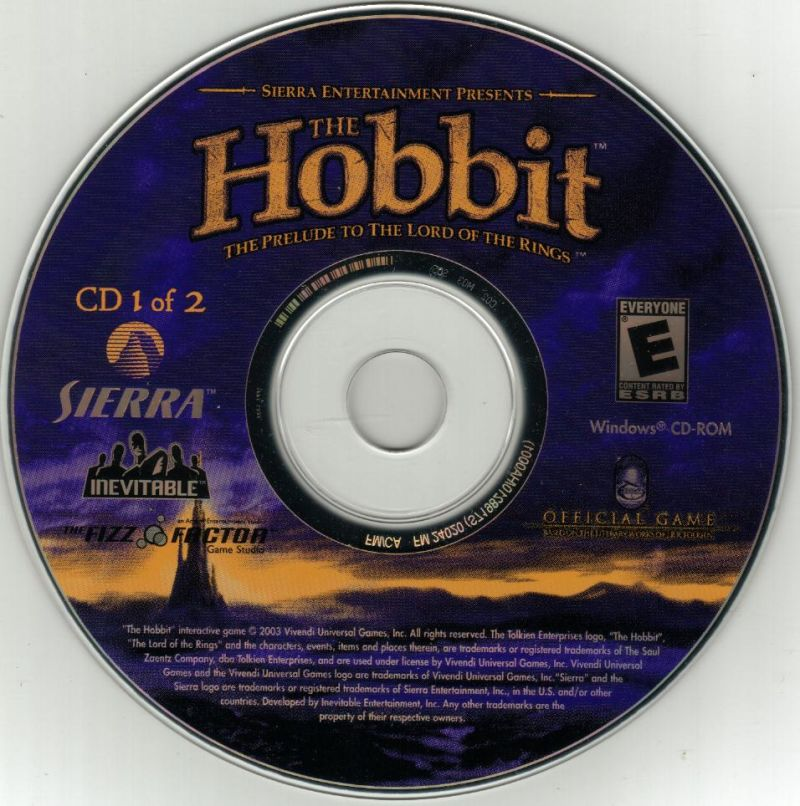 The Hobbit Windows Media Disc 1/2