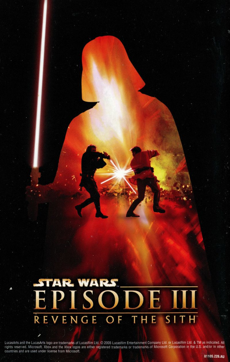 Star Wars Episode Iii Revenge Of The Sith 2005 Box Cover Art Mobygames