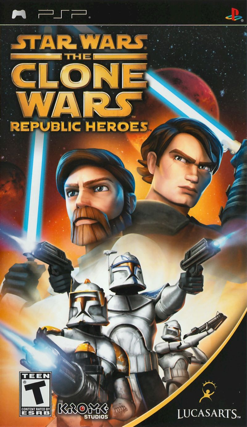 Star Wars: The Clone Wars - Republic Heroes PSP Front Cover