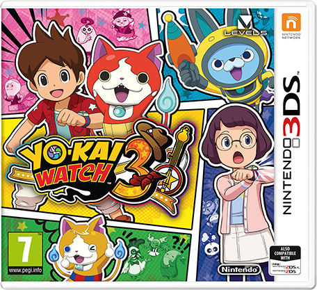 yo kai watch 3 2018 nintendo 3ds box cover art mobygames. Black Bedroom Furniture Sets. Home Design Ideas