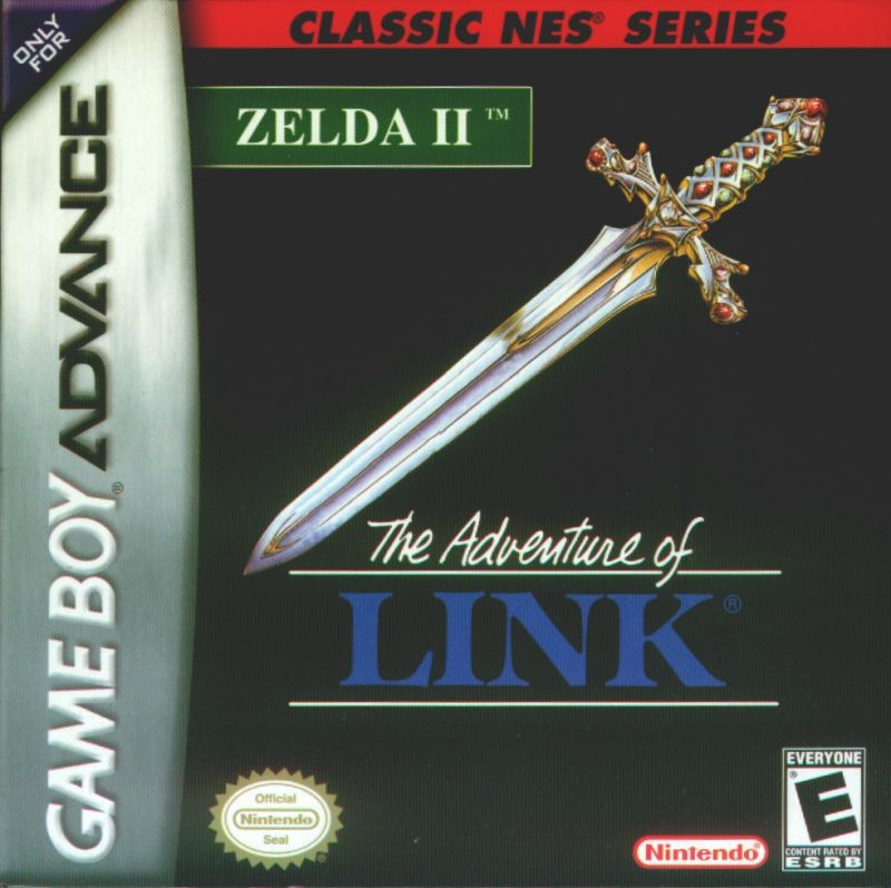 Zelda II: The Adventure of Link Game Boy Advance Front Cover