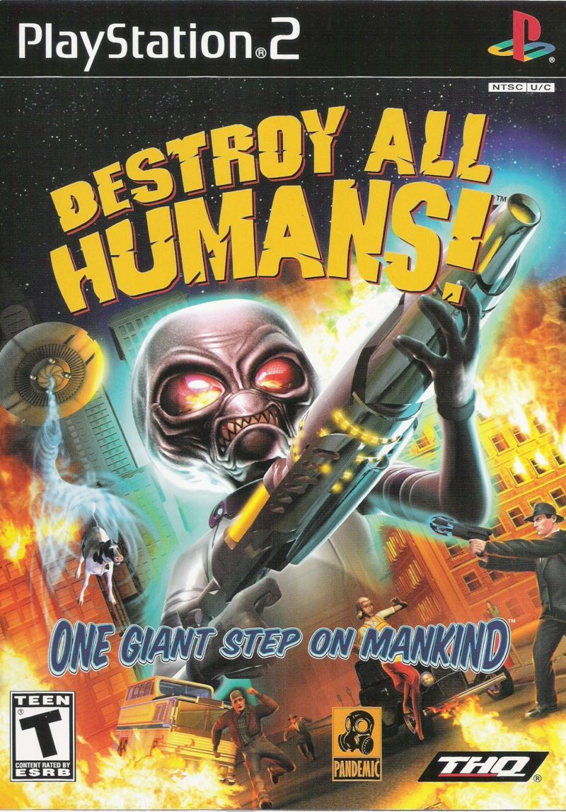 Destroy All Humans! PlayStation 2 Front Cover