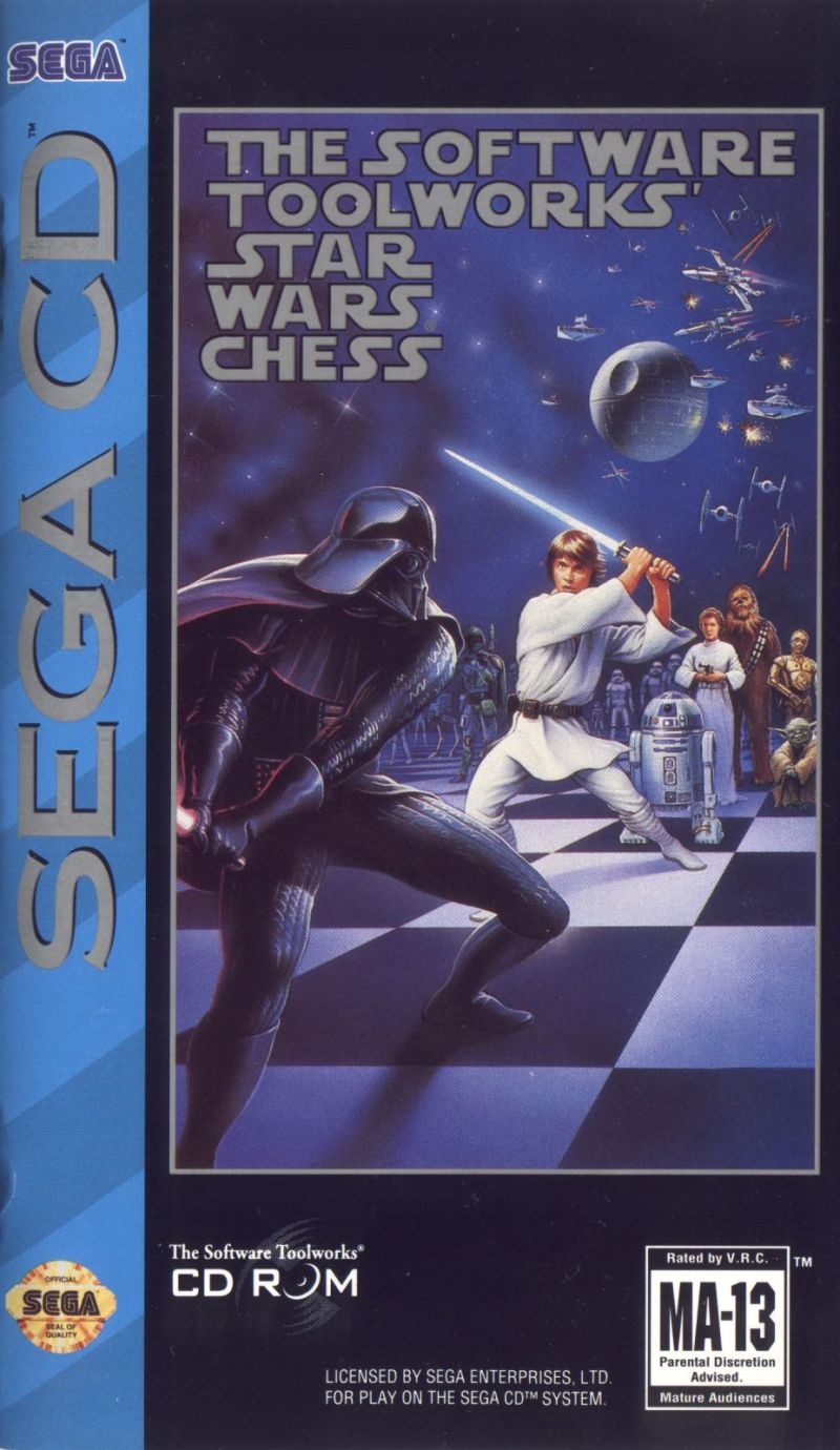 The Software Toolworks' Star Wars Chess (1994) SEGA CD box
