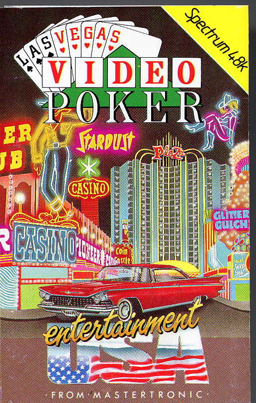 Las Vegas Video Poker ZX Spectrum Front Cover