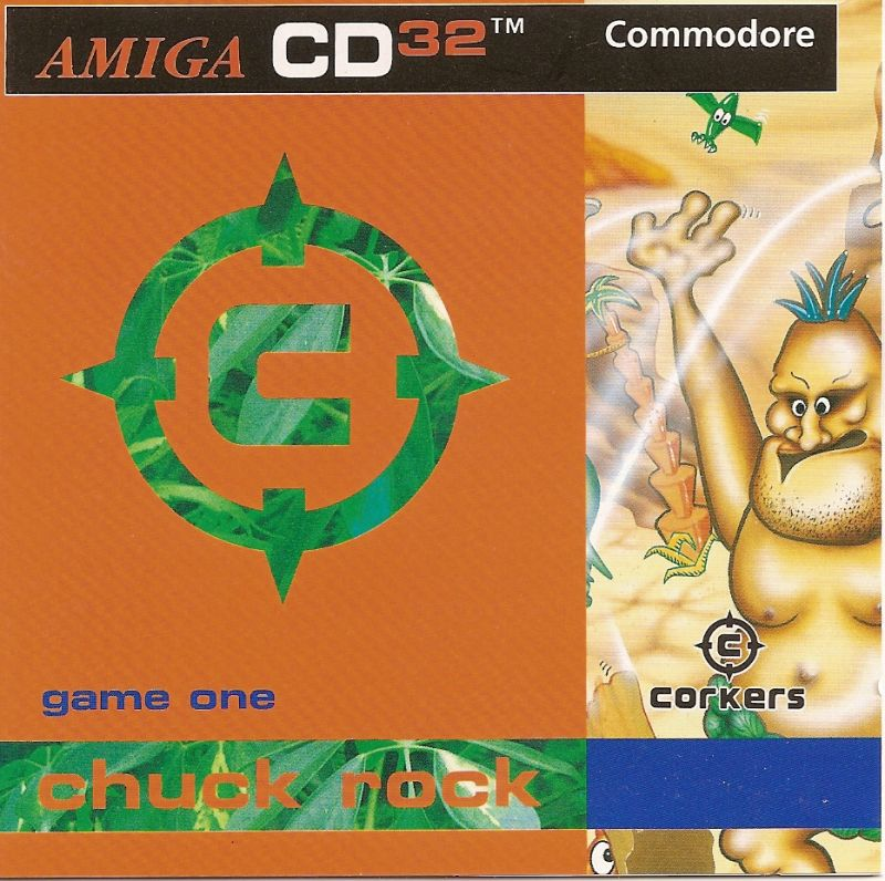 Chuck Rock Amiga CD32 Front Cover