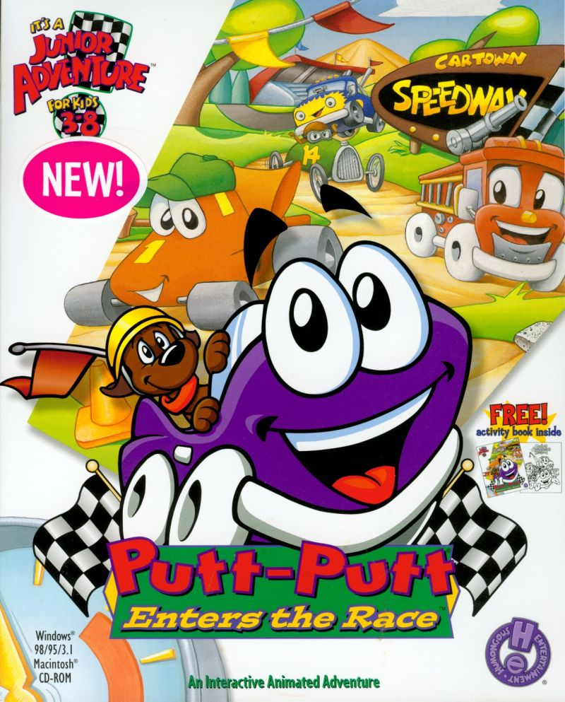 Putt-Putt Enters the Race Macintosh Front Cover