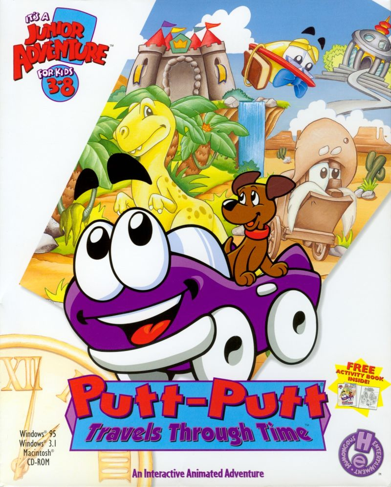 Putt-Putt Travels Through Time Macintosh Front Cover