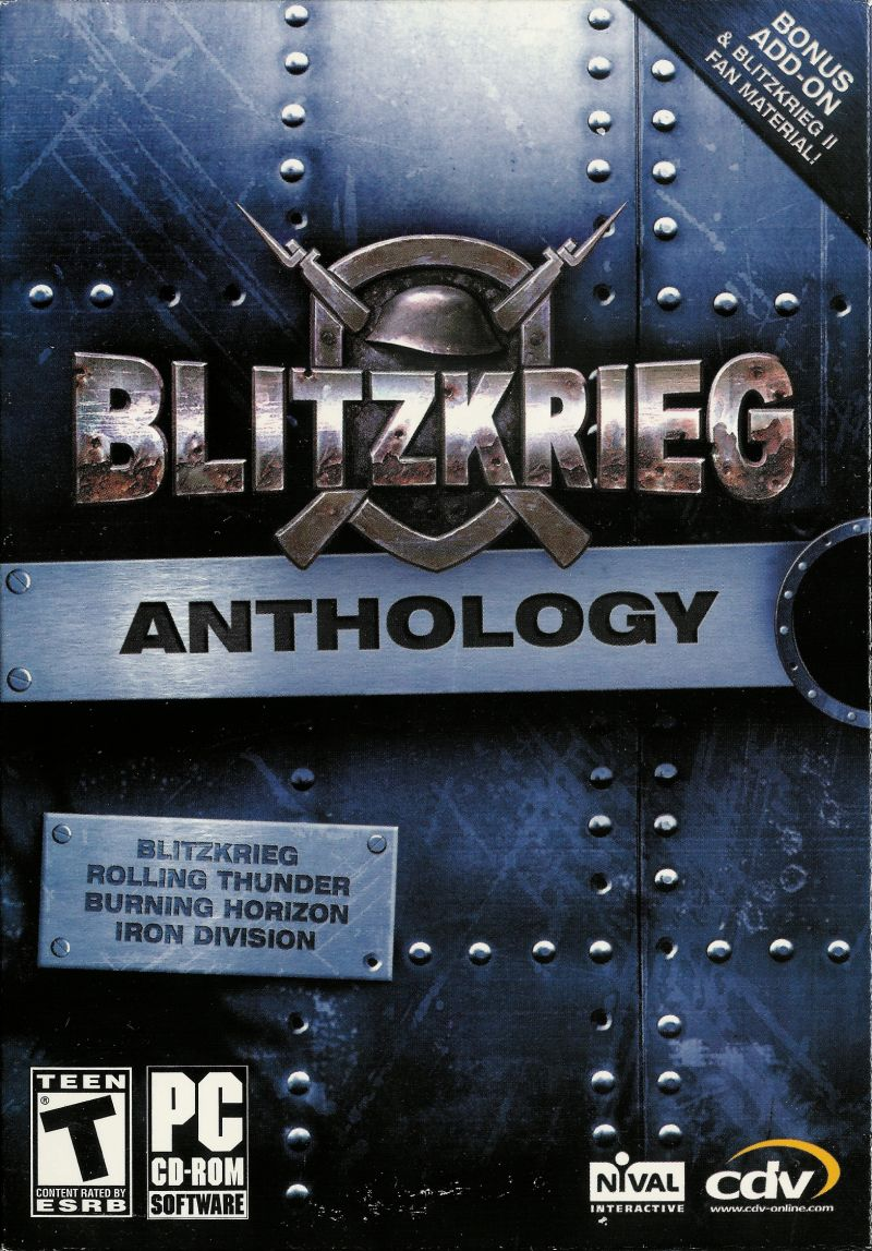 Blitzkrieg: Anthology Windows Front Cover