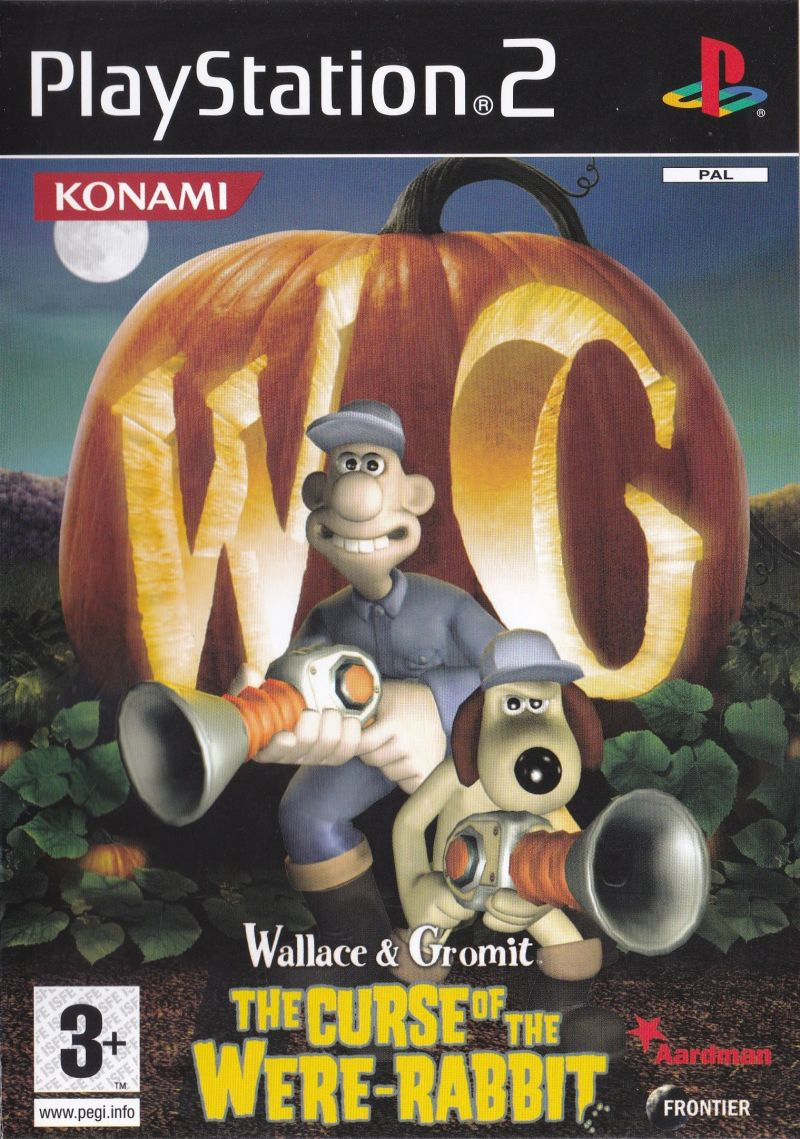 Wallace Gromit The Curse Of The Were Rabbit 2005 Playstation 2 Box Cover Art Mobygames