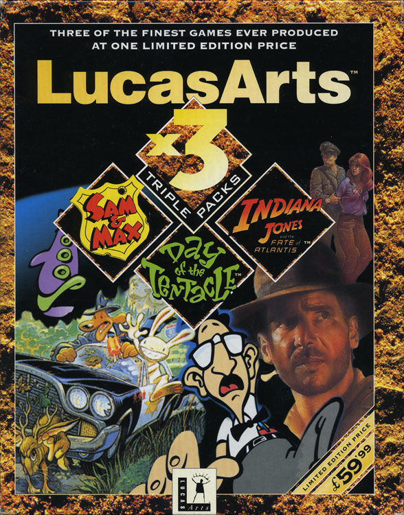 LucasArts x3 Triple Packs DOS Front Cover