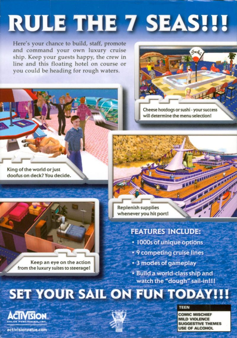 Cruise Ship Tycoon Windows Box Cover Art MobyGames - Cruise ship tycoon