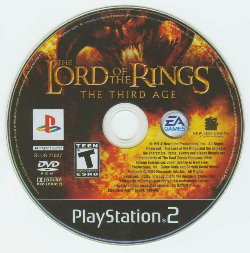 The Lord of the Rings: The Third Age PlayStation 2 Media
