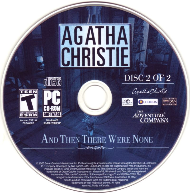 Agatha Christie: And Then There Were None Windows Media Disc 2
