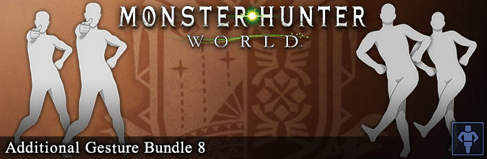 Monster Hunter: World - Additional Gesture Bundle 8
