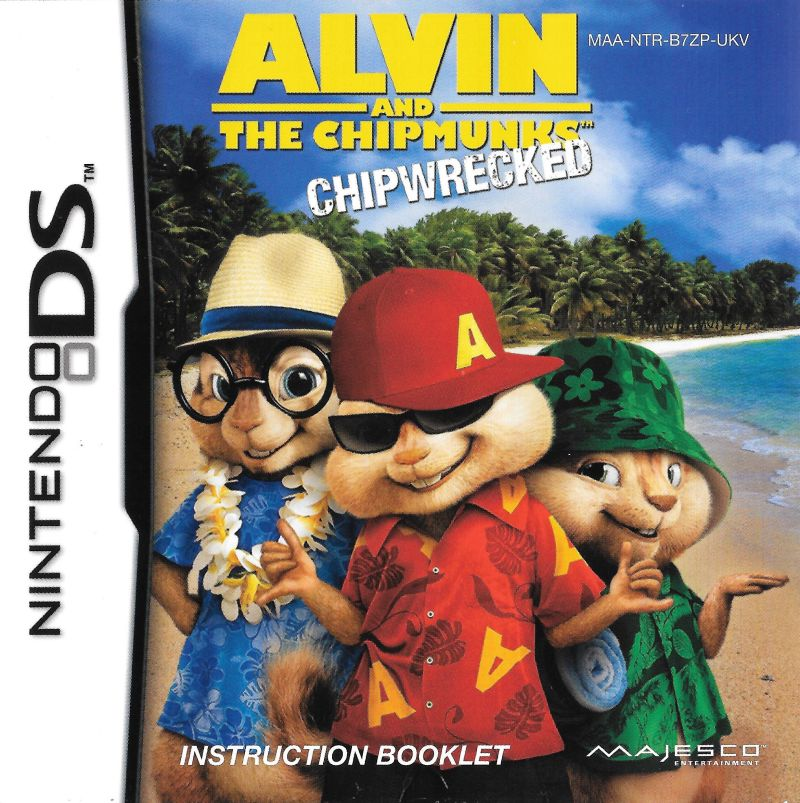 Alvin The Chipmunks Chipwrecked 2011 Nintendo Ds Box Cover Art Mobygames