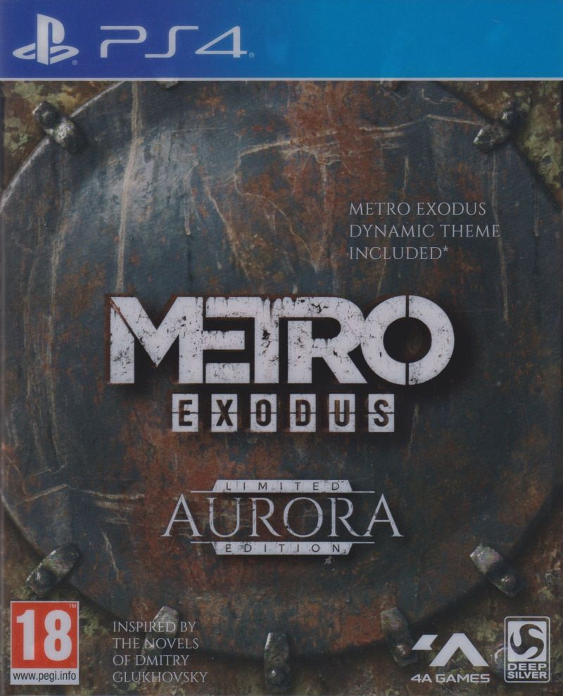 Metro: Exodus (Aurora Limited Edition) PlayStation 4 Front Cover