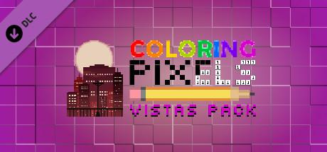 Coloring Pixels: Vistas Pack Macintosh Front Cover
