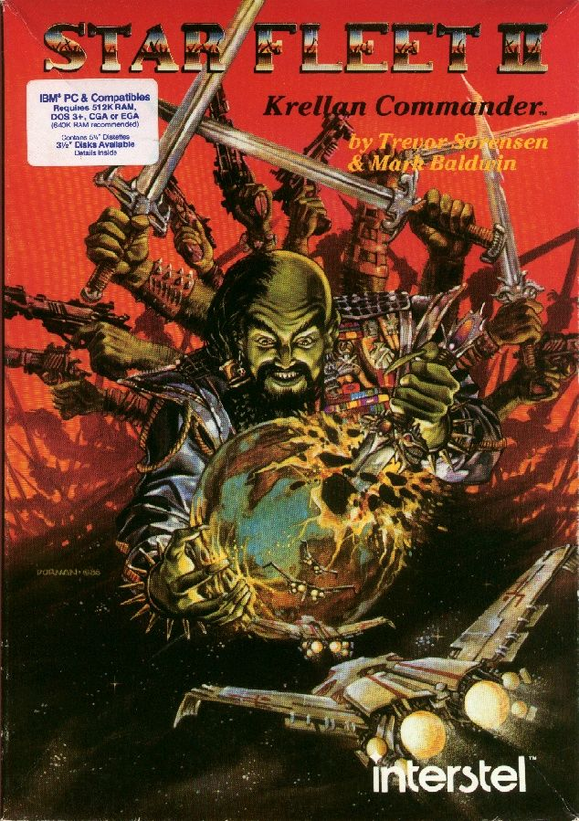 Star Fleet II: Krellan Commander DOS Front Cover