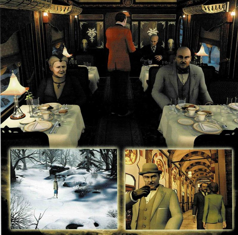 Agatha Christie: Murder on the Orient Express Windows Other Jewel Case - Left Inlay