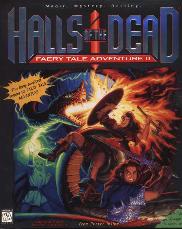 Halls of the Dead: Faery Tale Adventure II DOS Front Cover