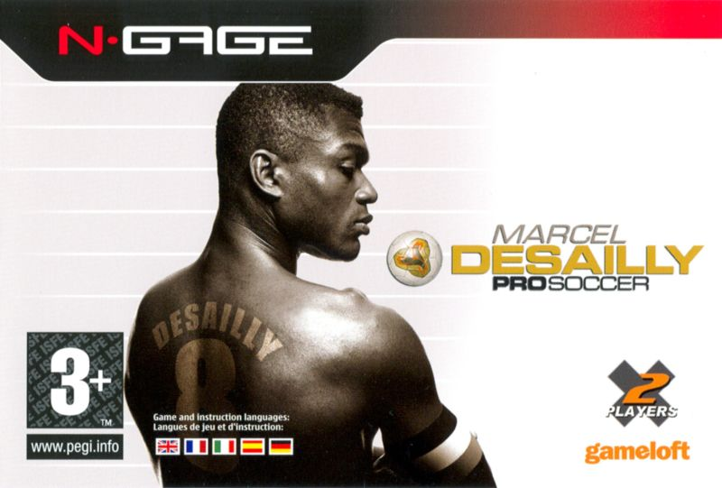 Marcel Desailly Pro Soccer N-Gage Front Cover