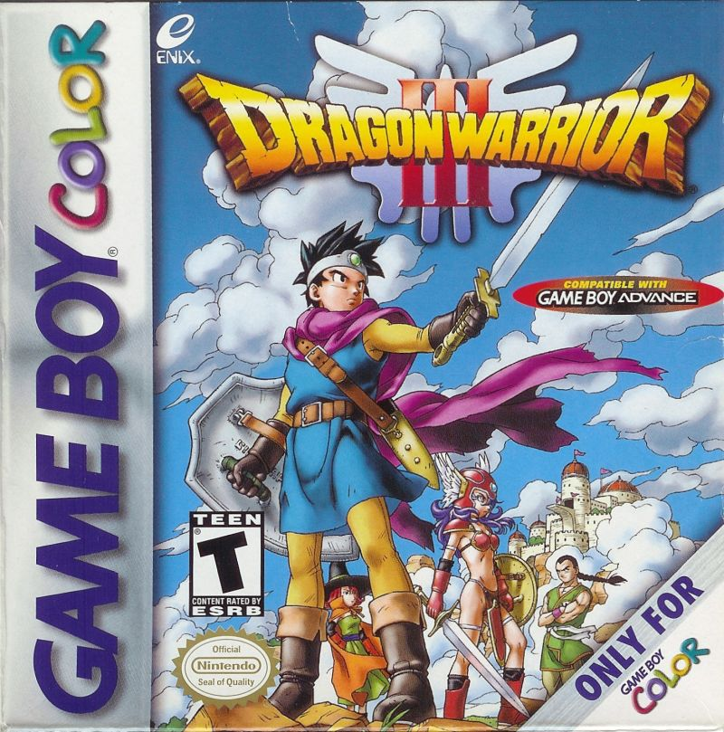 Dragon Warrior III Game Boy Color Front Cover