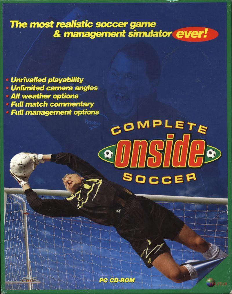 ONSIDE Complete Soccer DOS Front Cover